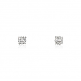 White Gold Round Brilliant Cut Diamond Earrings 0.60ct TDW